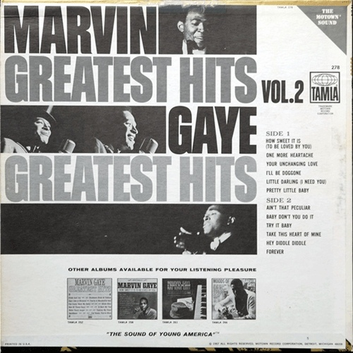 "Marvin Gaye : Album "" Greatest Hits Volume 2 "" Tamla Records TS 278 [ US ]"