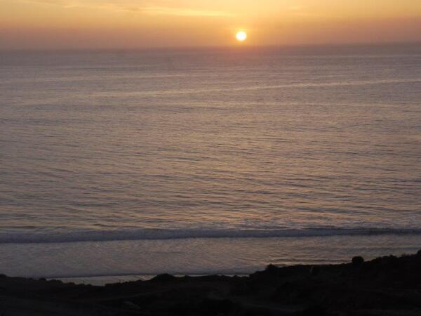 Coucher de soleil sur Taghazout