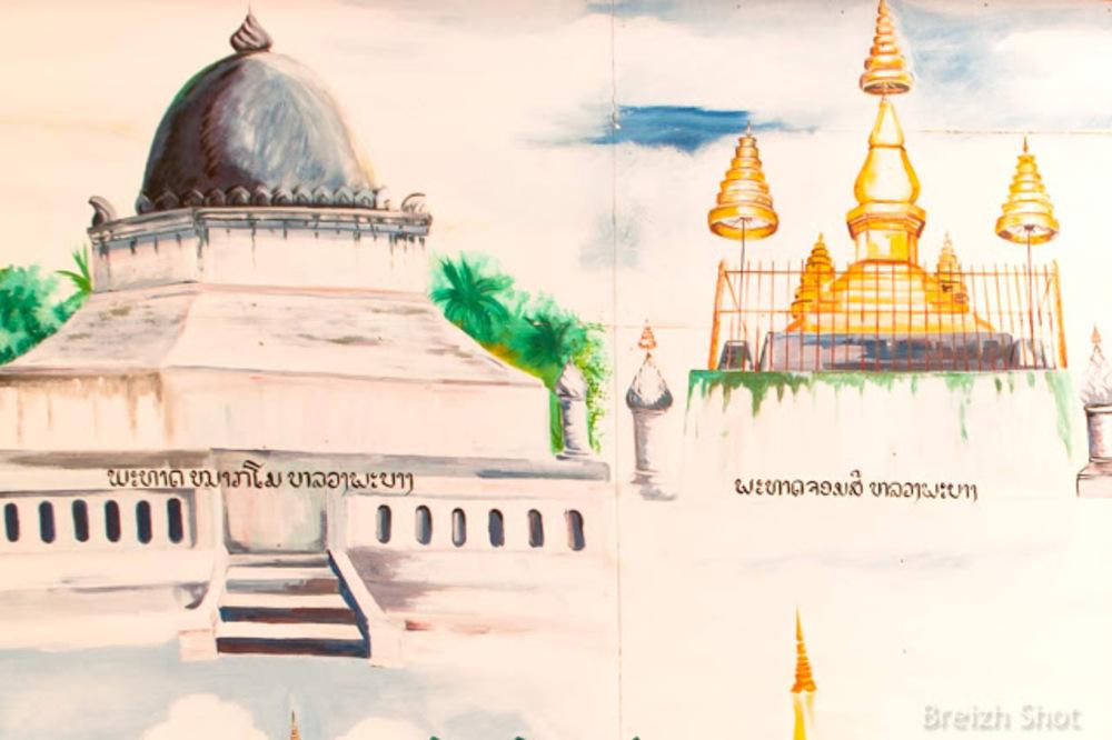 Les fresques - Vat Jom Khao Manilat