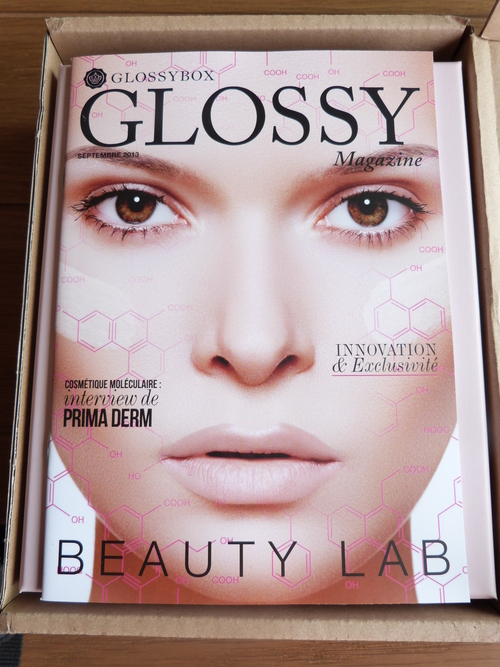 Ma Glossybox de septembre Beauty Lab