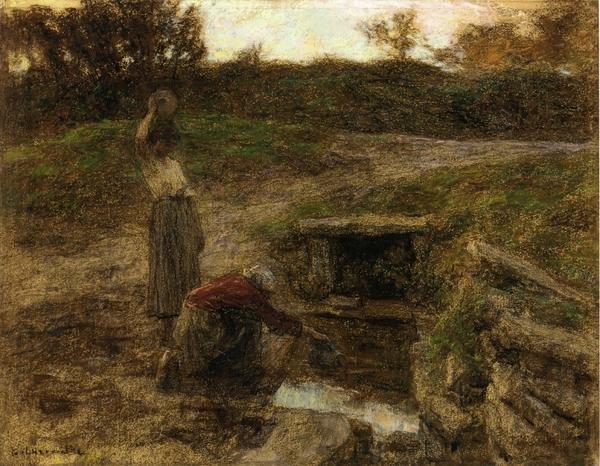 Peinture de :  Léon Lhermitte