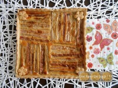 Tarte aux cerises et sa pâte brisée aux graines de pavot