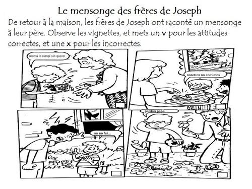 """Activités """"La vie de Joseph"""""""