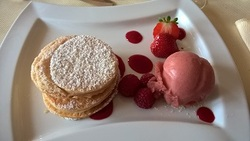Dessert im Relais Charlemagne