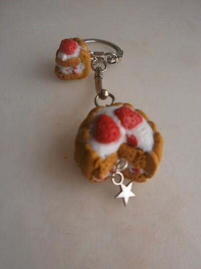Porte-clé charlotte au fraise