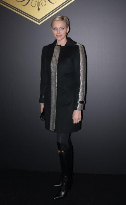 Charlène au défilé Versace