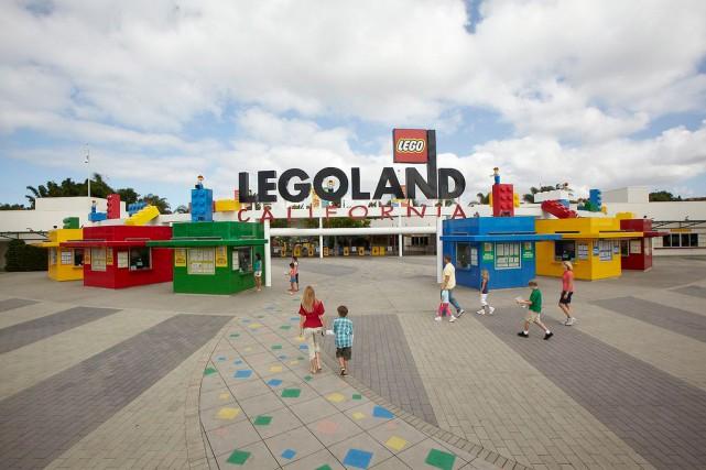 L'entrée principale de Legoland... (Photo tirée du site de Legoland)