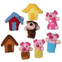 """Résultat de recherche d'images pour """"marionnettes à doigts 3 petits cochons"""""""