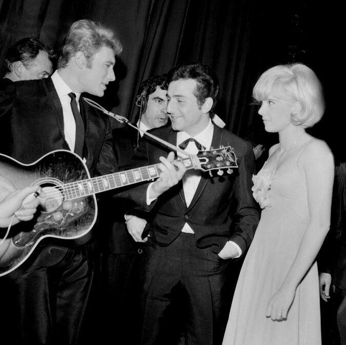 Richard Anthony entre Johnny et Sylvie, le 6 février 1964 à l'Olympia.