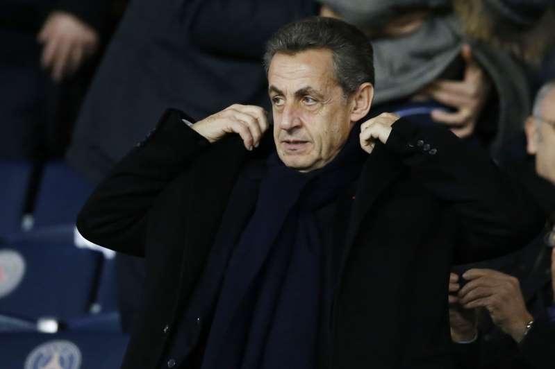Nicolas Sarkozy au Parc des Princes fin janvier.