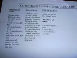 Les comptines d'espagnol