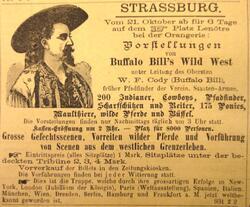 La lorraine aux parfum de l'Amérique avec Buffalo Bill