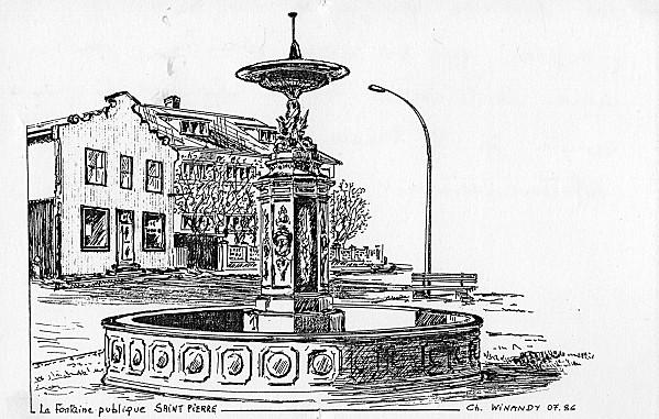 Fontaine de St Pierre et Miquelon