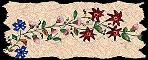 frise fleurie