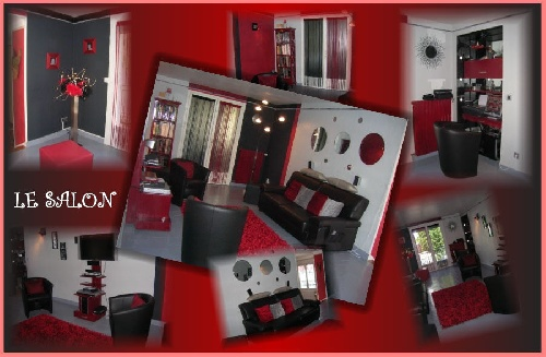 Salon blanc gris rouge noir - Deco salon gris et rouge ...