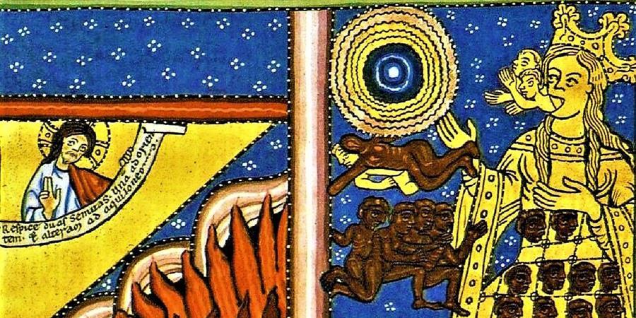 Crédit d'image: La maternité par l'esprit et l'eau (détail), v.  1165;  Source: Wikimedia Commons, PD-Old-100.