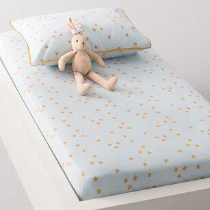 Drap housse bébé LAPIN, imprimé, en coton. R mini