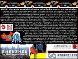 CHINE: laboratoire mondial des hautes technologies tous secteurs confondus.