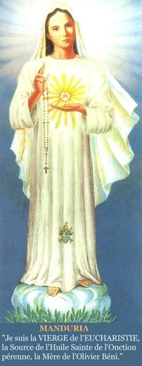 Manduria : La Vierge de l'Eucharistie
