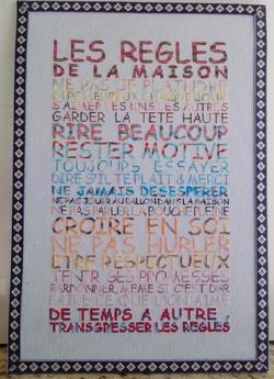 """""""les règles de la maison"""" du blog de caro"""