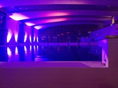 - L'inauguration de l'Aquasport, la nouvelle piscine de Mantes-la-Ville, le 5 décembre 2014