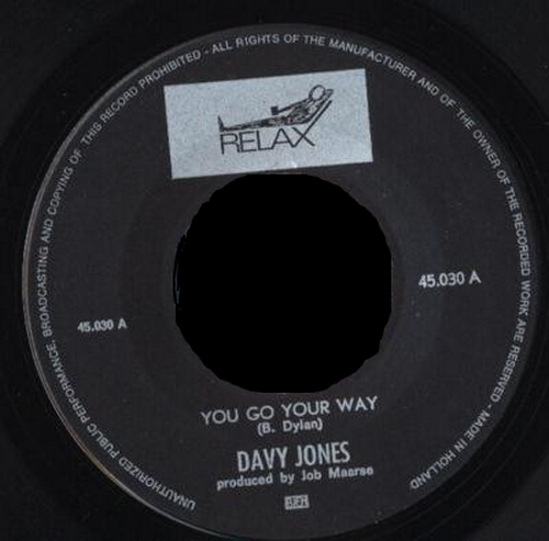 1967 : Single SP Relax Records 45.030 [ NL ]