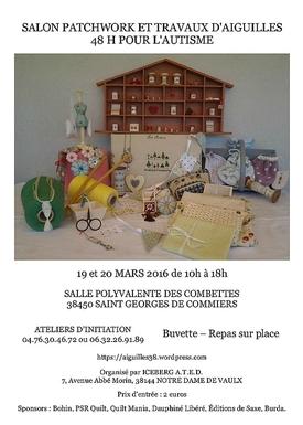 19 et 20 mars 2016 : Salon Patch et Travaux aiguilles (Isère)