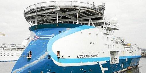 L'Oceanic Sirius, le bateau sur lequel l'équipe de Damen travaillait au moment du drame.