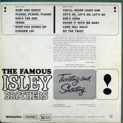 "The Isley Brothers : Album "" Twisting & Shouting "" United Artists Records UAL 3313 [ US ]"
