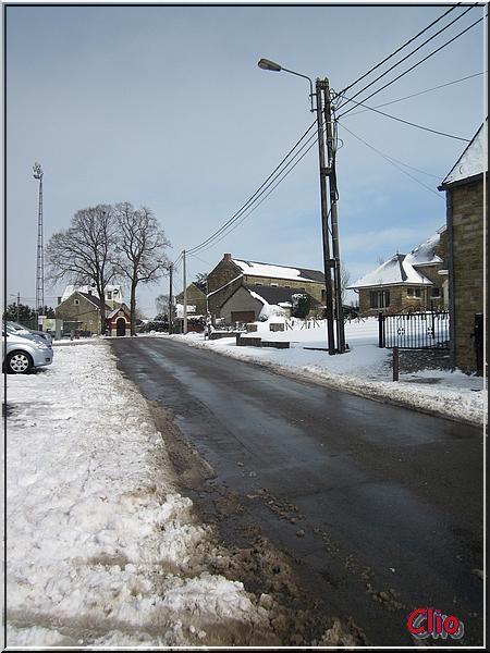 Neige et balade à Lustin - Entité de Profondeville.