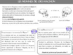 Dossier sur Cro-Magnon