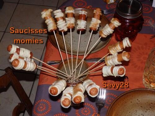 Saucisses momies pour Halloween