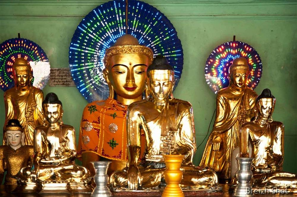 Bouddhas - néons multicolores