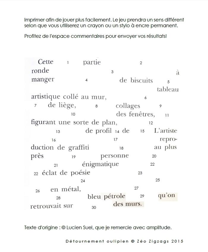 POLI OU? — Détournement oulipien d'une texte de Lucien Suel
