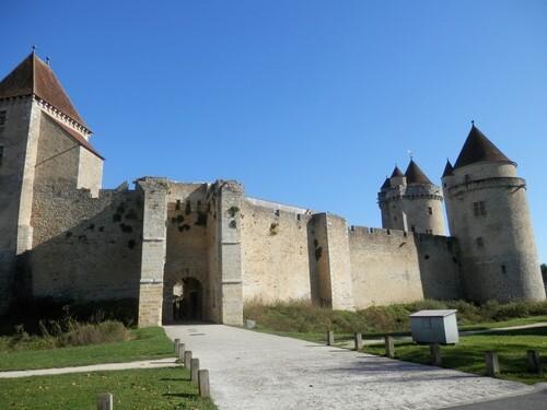 Le château-fort de Blandy-les-Tours est surtout à vocation militaire. A en croire les écrits il serait issu d'un manoir puis fortifié. Ce dernier a été édifié dans les années 1200 environ et c'est aux alentours de 1300; c'est à dire 100 ans plus tard qu'il devint réellement château fort à vocation militaire d'où château fort après une série de renforcements qui lui donneront sa vocation de château féodal de guerre flanqué de six tours.  L'ensemble de l'édifice a été restauré, et très bien restauré par le Conseil Général il y a quelques années, ce qui lui donne maintenant son aspect des années 2000