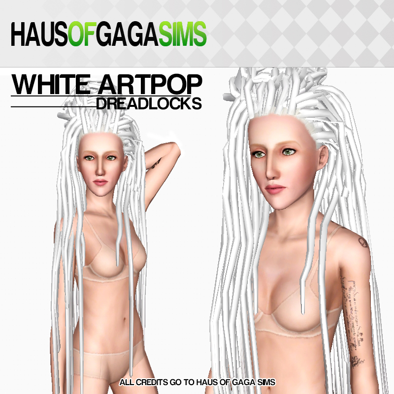 WHITE ARTPOP DREADLOCKS