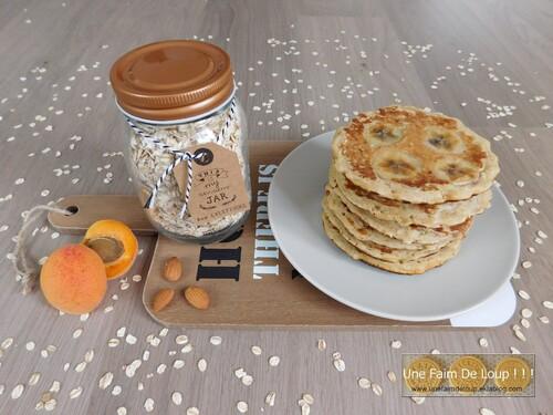 Pancakes aux flocons d'avoine et banane