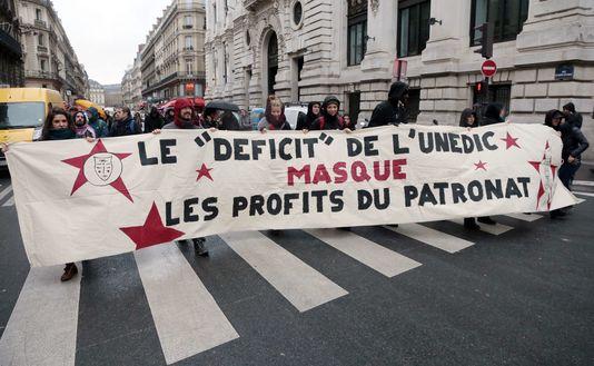 Lors d'une manifestation à Paris le 19 décembre 2014.