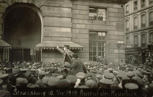 10 novembre 1918: le drapeau rouge flotte sur Strasbourg