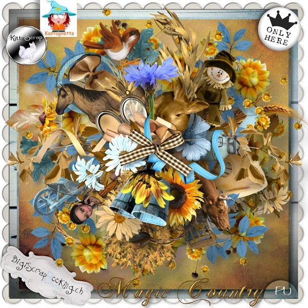 """Magic Country"" by Kastagnette & Kitty Scrap"