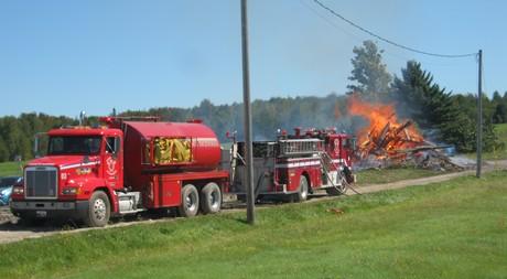 Incendie 1er septembre 2012 toute 108 à Lambton