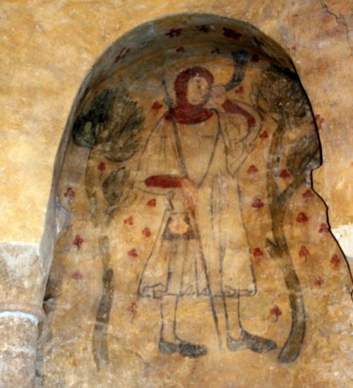 L ' église de Villeneuve d' Aveyron  et ses peintures murales