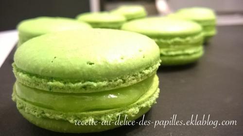 Recette macaron citron vert (lime) framboise