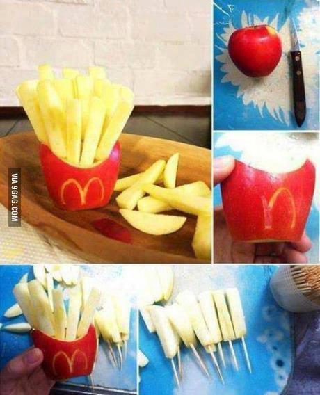Des frites diététiques