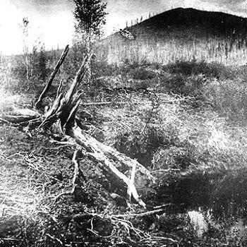 une météorite géante tombe en sibérie le 30 juin 1908 et brûle des milliers