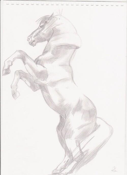 Grabouillages artistiques: chevaux