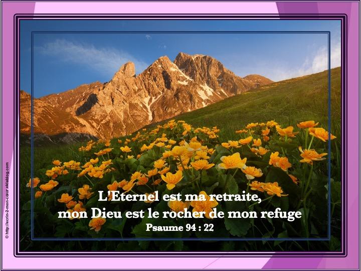 L'Eternel est ma retraite - Psaumes 94 : 22