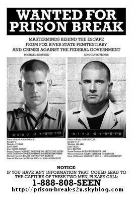 Wanted (Affiche Promo de la Saison 2 de Prison Break)