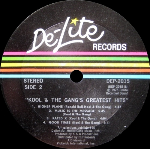 "Kool & The Gang : Album "" Greatest Hits ! "" De-Lite Records DEP 2015 [ US ]"