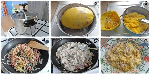 Courge Spaghetti à la carbonara